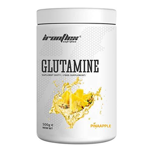 IronFlex Glutamine Package of 1 x 500g – L-Glutamine Amino Acid with Vitamin B6 (Pineapple)