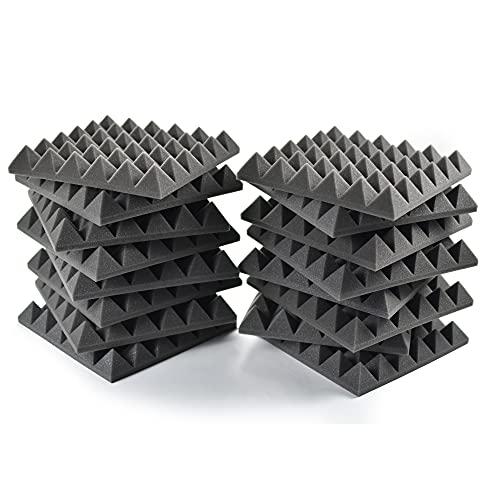 AcousPanel Espuma Acústica Piramidal 16 paneles de 245x245x40mm Gris Antracita