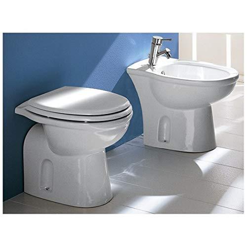 Bagno Italia sanitari in ceramica wc e bidet a terra Rak ceramiche water con scarico a muro o a pavimento