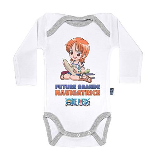 Baby Geek Future Grande navigatrice - Nami - One Piece ™ - Licence Officielle - Body Bébé Manches Longues (6-12 Mois)