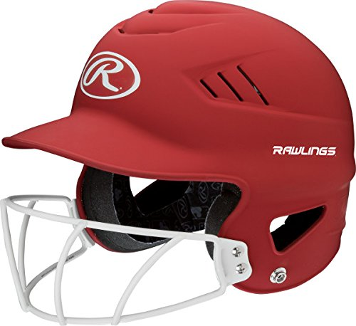 Rawlings Sporting Goods Textmarker Serie Softball Helm, Matte Scarlet