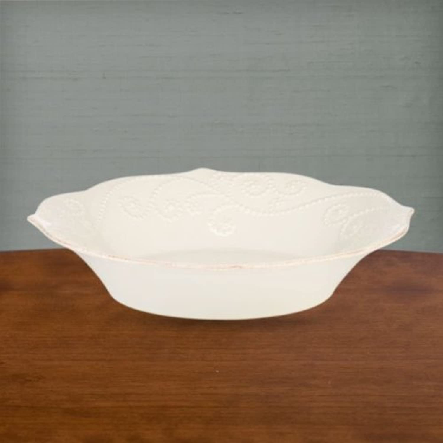 French Perle Individual Pasta Bowl [Set of 4] color  White