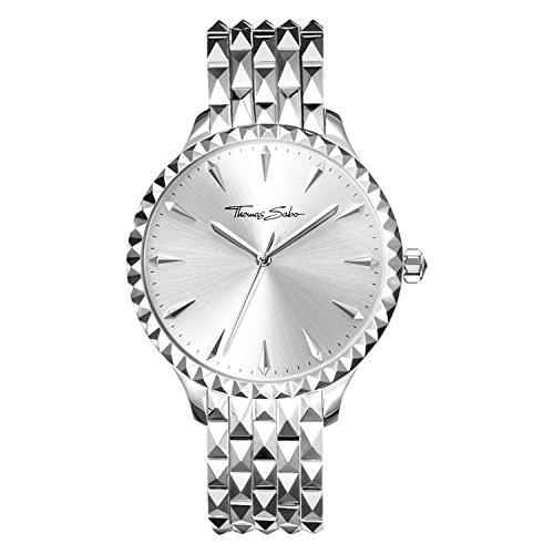 Thomas Sabo Reloj para mujer Rebel at Heart Plata WA0318-201-201-38 mm