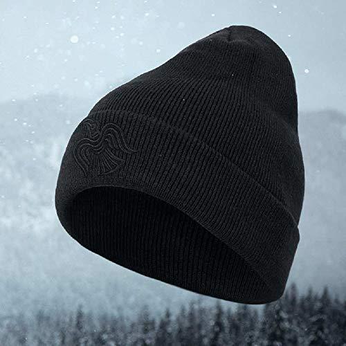 Gods Rage Raven Beanie Mütze Beanie Kopfbedeckung Wintermütze Wollmütze