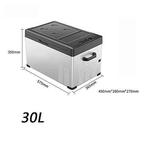 HXPH Tragbarer Kompressor-Kühlschrank mit Gefrierfach (30L40L50L) Mit Wechselstrom oder Gleichstrom betriebener Minikühler (Lebensmittel, Getränke, Wein, Bier, Camping, Reisen, Picknicks)