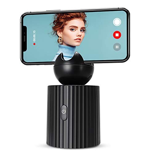 Capture Genie Golf Smart Gimbals Stabilizer, 360° Rotation Auto Face Object Tracking Camera Mount, Hands-Free Photo or Video Phone Holder, Vlog Selfir Shooting Tripod Stand for iPhone and Android
