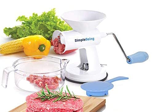 Simple Being Manual Meat Grinder Set w/Stainless Steel...