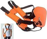Okuya - Tracolla per carburatore con doppia spalla, per tagliaerba, tagliaerba e tosaerba, per Stihl FS Husqvarna, tagliapasta e decespugliatore, colore arancione