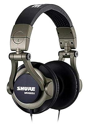 Shure SRH550DJ-E Closed-Back DJ Headphones, Grey