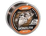 Jaxon Monolith Match - Sedal de pesca (monofilamento, bobina de 150 m, 0,25 mm/13 kg)