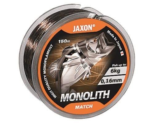 Jaxon Angelschnur Monolith Match Monofile Schnur 150m Spule (0,18mm / 7kg)