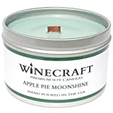 Wooden Wick Aromatherapy Candle - Wine Scented Soy Wax (Apple Pie Moonshine)