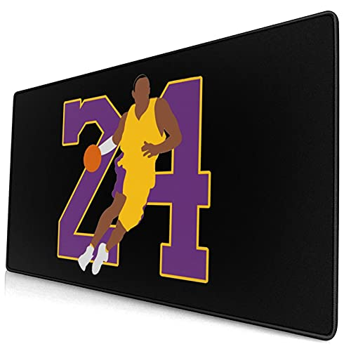 Mouse Pad Kobe Number Large Gaming Mousepad Extended Desk Mat Ultra Thick Mousepad for Office Gamer Home 29.5'X15.8'