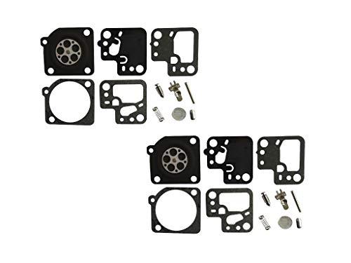 Carburetor Reparatie/Rebuild Kit Vervangt ZAMA RB-186 Voor Stihl HS46 HS56 heggenschaar ZAMA C1T-S195 (Pack van 2)