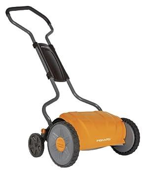 Fiskars 17 Inch Staysharp Push Reel Lawn Mower  6208  Orange