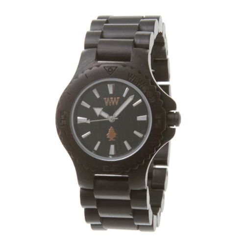 Big Sale Wewood Men's Date Black Wooden Watch