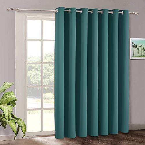 RYB Home - Tende oscuranti per finestre con occhielli oscuranti, per camera da letto, porta, sala da pranzo, ufficio, bar, 254 x 213 cm, colore: verde acqua