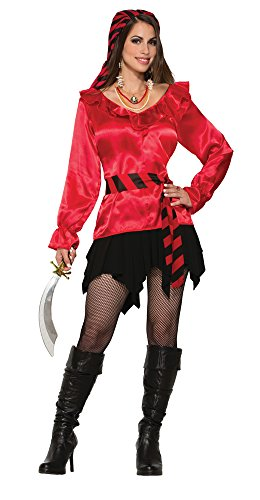 Forum Novelties 78767 Pirate Lady Rode Blouse (UK Maat 10-12)