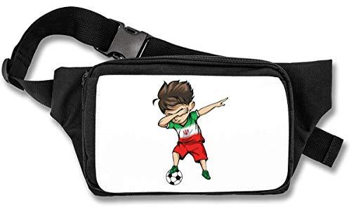 Dabbing Soccer Boy Iran Jersey Football Bauchtasche