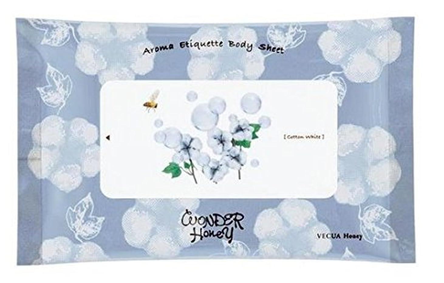 大陸ベリー直面するVECUA Honey(ベキュアハニー) アロマエチケットボディシート10枚入 (コットンホワイト)