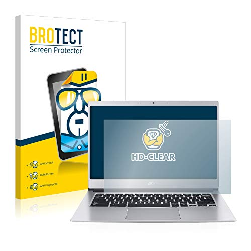 BROTECT Schutzfolie kompatibel mit Acer Chromebook 514 klare Bildschirmschutz-Folie
