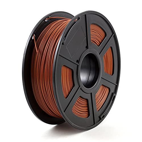 KTZAJO 3D-Drucker-Filament, PLA, 1,75 mm, 1 kg, 3D-Kunststoff-Verbrauchsmaterial, 3D-Filament, PLA (Farbe: Braun)