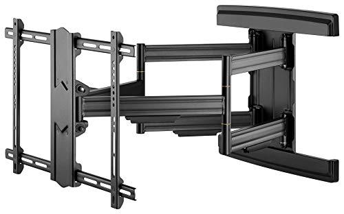 """Goobay 49935 - Supporto da parete per TV Pro FULLMOTION (L) wide range 37"""" fino a 70"""" (94-178 cm), orientabile e inclinabile, 70 kg, colore: Nero"""
