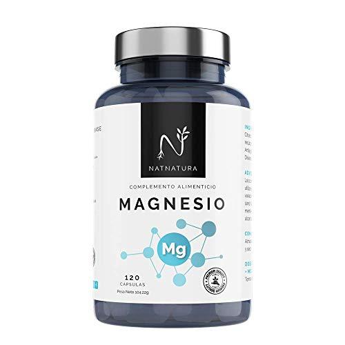 Magnesio elemental puro concentrado de alta biodisponibilidad. Mejora el funcionamiento de huesos, músculos y sistema nervioso. 120 cápsulas vegetales.