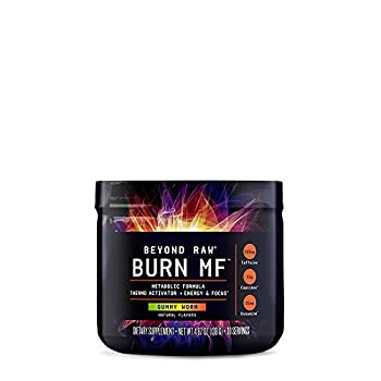 BEYOND RAW Burn MF | Metabolic Formula Thermo Activator Supports Energy and Focus | Gummy Worm | 30 Servings