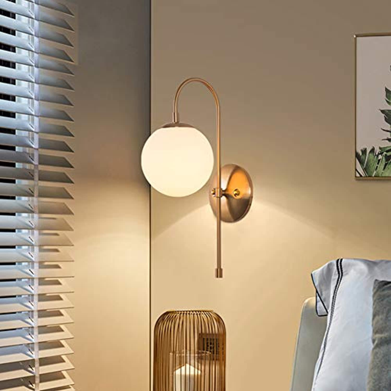 LL Wandmontage Lampe Wohnzimmer Bedroom Single Head Art Wall Retro Wall Beleuchtung,5W,24.8x42cm