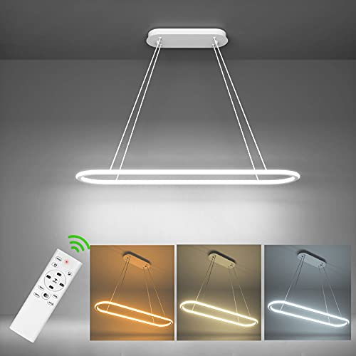 Anten 30W Lámpara de Techo Colgante Led Regulable, Moderna Lámpara Techo con Mando a Distancia para Comedor/Salón/Cocina/Dormitorio (61.5 x 22.5cm)