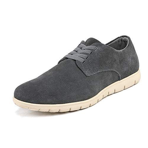 Bruno Marc Men's Grey Oxford Fashion Sneaker Casual Dress Sneakers - 9 M US