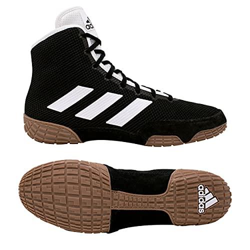adidas Men's Tech Fall 2.0 Wrestling Shoe (Black/White, 12)