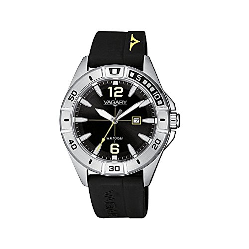 Orologio Unisex Vagary by Citizen Acqua39 Black Silicone ref. IU1-816-50
