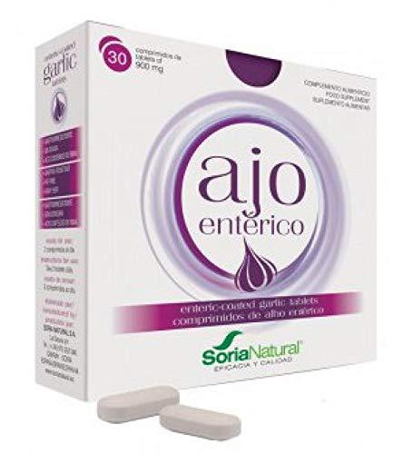 Soria Natural Ajo Entérico - 2 Paquetes de 30 Comprimidos