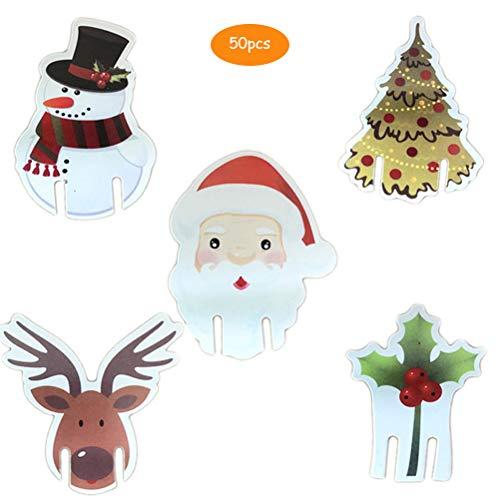 50 x kerstmis wijnglas decoraties kopje kaartentafel decoratie voor kerstmis party leveringen