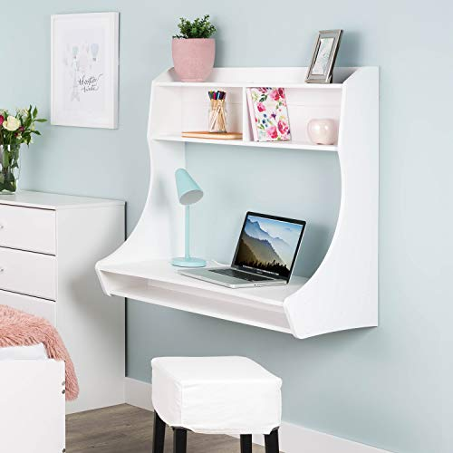 A hanging desk is a great home office idea for small spaces