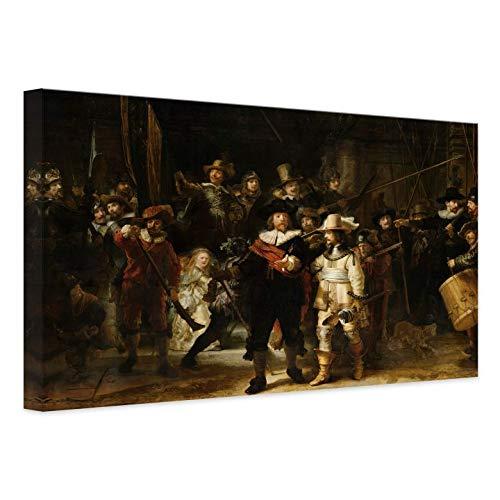 Canvas Schilderij Rembrandt - de Nachtwacht - 45x30 cm (bxh) Wall Art Wanddecoratie Kunst