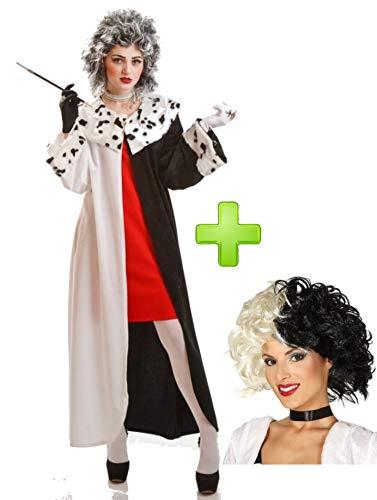 Disfraces Halloween Disfraz de mujer Cruel con peluca