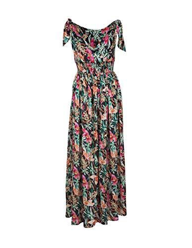 Tiffosi Vestido largo estampado floral - XS, Negro