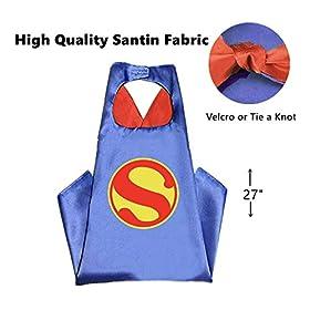 Maribus-FL Superhero Capes and Masks for Kids – Satin Capes and Felt Masks for Boys and Girls (Wonder-Girl)