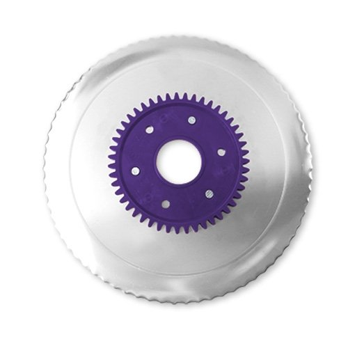 Wellenschliffmesser elektrolytisch poliert lila für RITTER Multischneider fortis 1, pino 2, E 16, E 18, E19, E 21, Fondo 1, E 118, AES / Allesschneider / Messer / Ersatzmesser / Aufschnittmesser