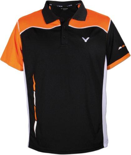 VICTOR Poloshirt Function, Schwarz/Orange/Weiß, S