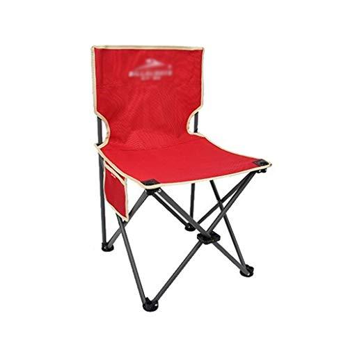 Decorative stool CSQ-Portable Chaise de Camping, Chaise d'extérieur Robuste Rouge Chaise de pêche Pliante Durable de Pique-Nique imperméable Chaise de Plage Pliable (Color : Red, Size : 27CM)