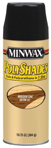 Minwax 313850000 Polyshades - Stain & Polyurethane in 1 Step, 10.75 ounce Spray, Mission Oak, Satin
