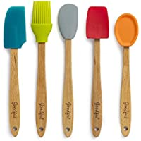 5-Pieces Goodful Silicone and Beechwood Mini Kitchen Utensil Set