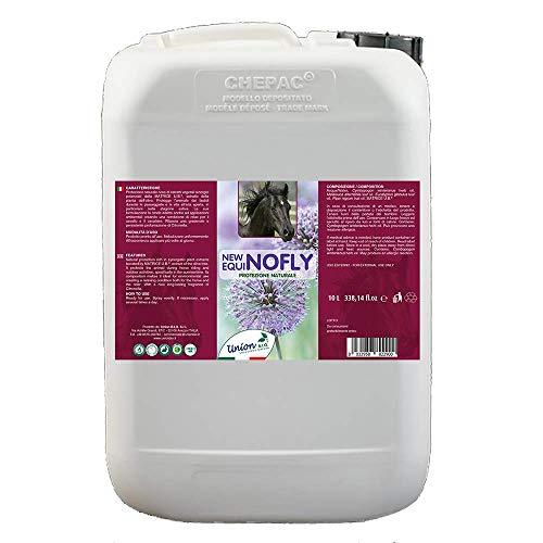 Union Bio® New Equinofly - 10 litros – Antiparasitario para caballos 100% natural, contra insectos, moscas, mosquitos, loros y flebotomos, con aceite de nim y citronela, fabricado en Italia
