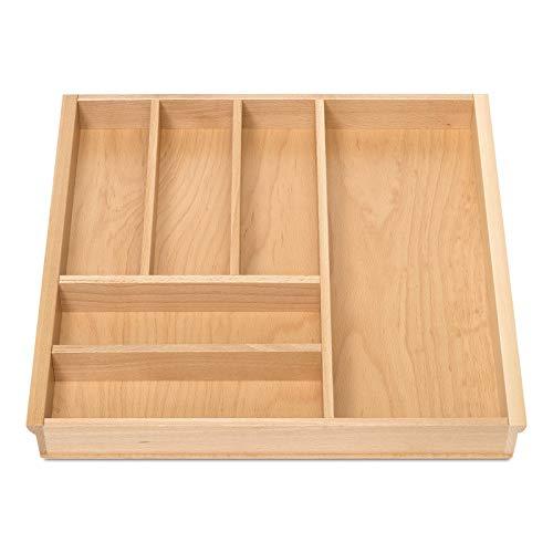 Orga-Box BUCHE Besteckeinsatz für 60er Schublade z.B. Nobilia ab 2013 (473 x 497 mm) Holz-Küchenorganizer mit 6 Fächer III