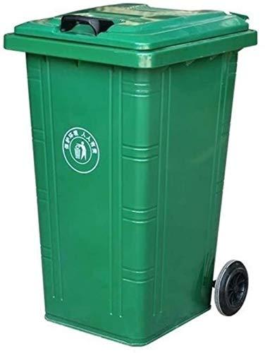 HFFFHA Outdoor Trash Can, Bügeleisen Große Trash Can Park Street Wheeled Trash Can Schwer Multi-Funktions-Trash Can/Größe, 53 * 46 * 83CM Fest (Color : Green, Size : 100L)