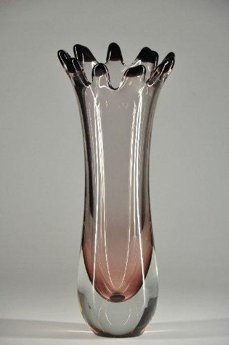 Glasfeld, Transparent, Auberginefarbene, Sommerso, Murano, Design, Handarbeit